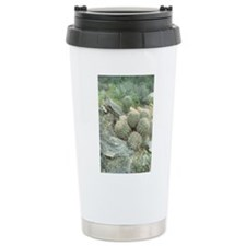 Saguaro Cactus Swirl Stainless Steel Travel Mug