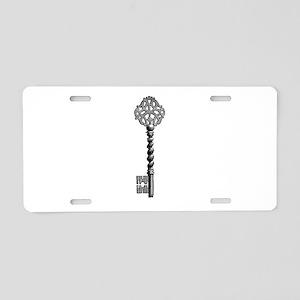 Vintage Key Aluminum License Plate