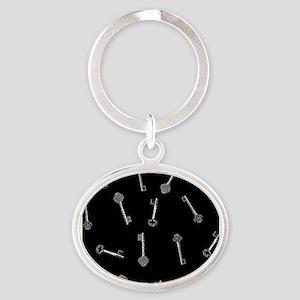 Black Key pattern Keychains