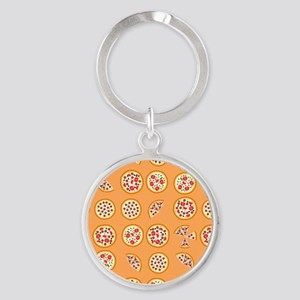Pizza For All Round Keychain