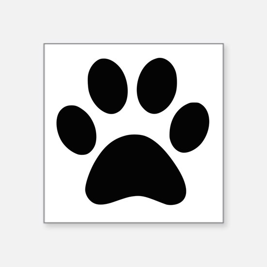 Black Paw print Sticker