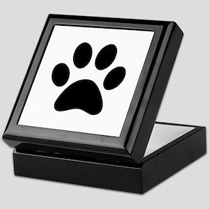 Black Paw print Keepsake Box