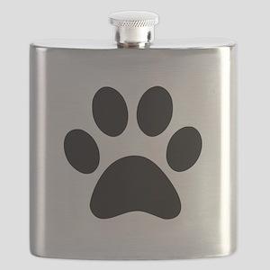 Black Paw print Flask