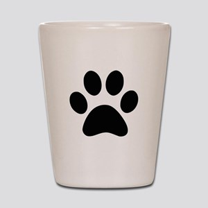 Black Paw print Shot Glass
