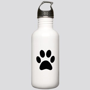 Black Paw print Sports Water Bottle
