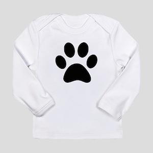 Black Paw print Long Sleeve T-Shirt
