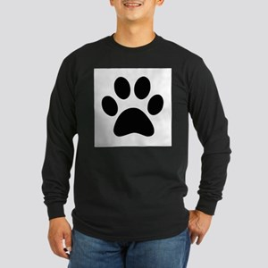 Black Paw print Long Sleeve T-Shirt