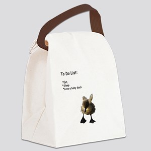 Love a baby duck Canvas Lunch Bag