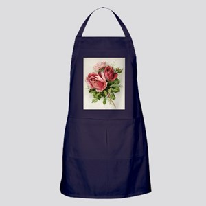 Vintage Antique Roses Apron (dark)