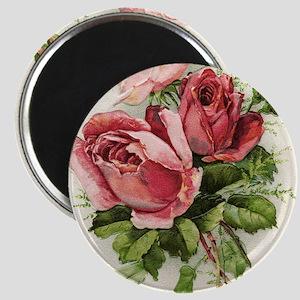 Vintage Antique Roses Magnet
