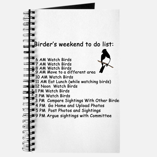 Birders Weekend To Do List Journal