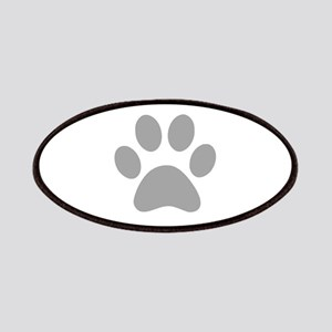 Grey Paw print Patches