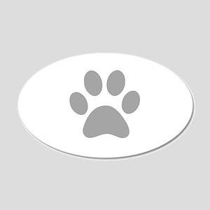 Grey Paw print Wall Sticker