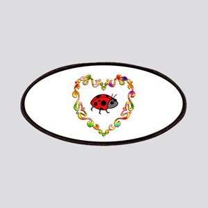 Fancy Heart Ladybug Patches
