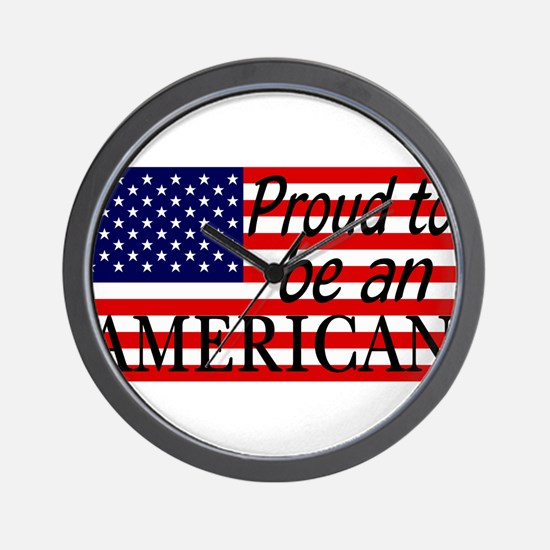 Proud to be an American Gifts Wall Clock