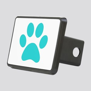 Turquoise Paw print Rectangular Hitch Cover