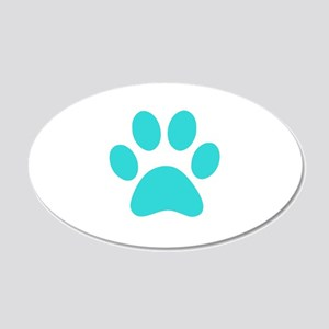 Turquoise Paw print Wall Sticker