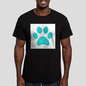 Turquoise Paw print T-Shirt