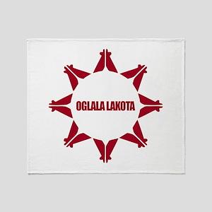Oglala Lakota Throw Blanket