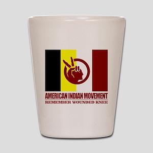 American Indian Movement Shot Glass