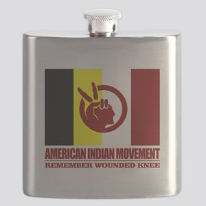 American Indian Movement Flask