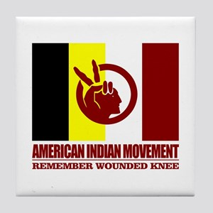 American Indian Movement Tile Coaster