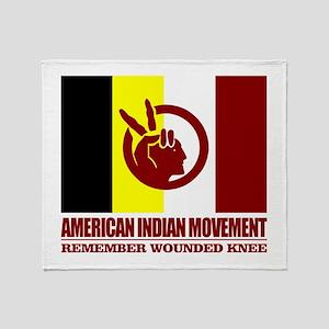 American Indian Movement Throw Blanket