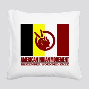 American Indian Movement Square Canvas Pillow