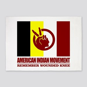 American Indian Movement 5'x7'Area Rug