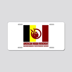 American Indian Movement Aluminum License Plate