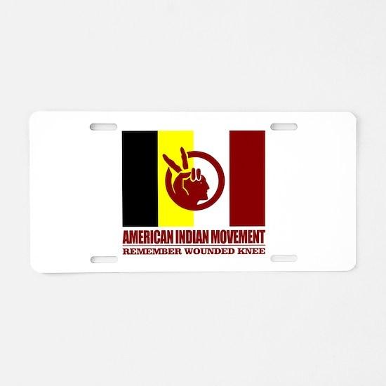 American Indian Movement Aluminum License Plate