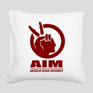 AIM (American Indian Movement) Square Canvas Pillo