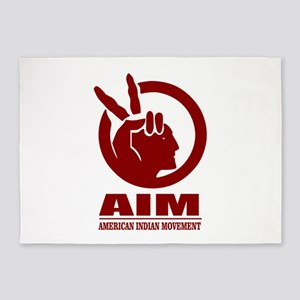 AIM (American Indian Movement) 5'x7'Area Rug