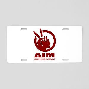 AIM (American Indian Movement) Aluminum License Pl