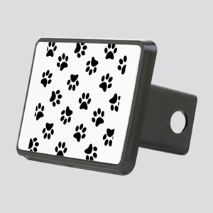 Black Pawprint pattern Rectangular Hitch Cover