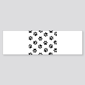 Black Pawprint pattern Bumper Sticker