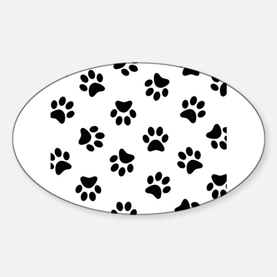 Black Pawprint pattern Decal