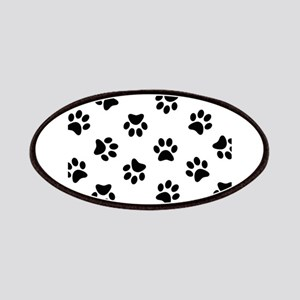 Black Pawprint pattern Patches