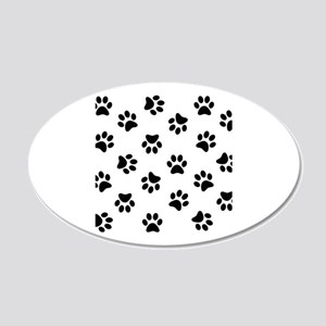 Black Pawprint pattern Wall Sticker
