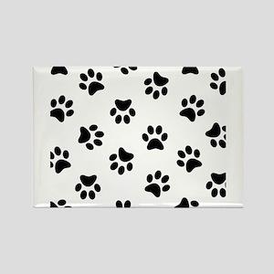 Black Pawprint pattern Magnets