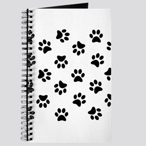 Black Pawprint pattern Journal