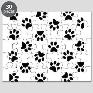 Black Pawprint pattern Puzzle
