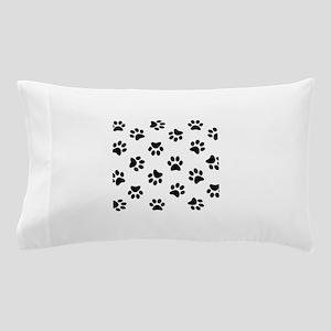 Black Pawprint pattern Pillow Case