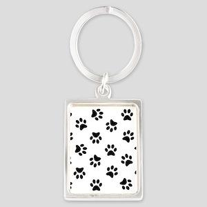 Black Pawprint pattern Keychains