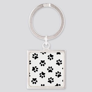 Black Pawprint pattern Keychains