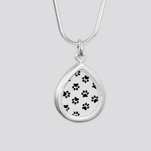 Black Pawprint pattern Necklaces