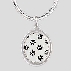 Black Pawprint pattern Necklaces