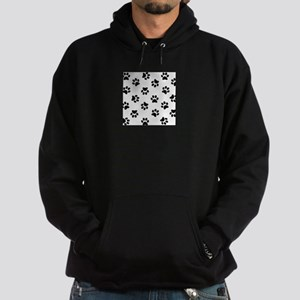 Black Pawprint pattern Hoody