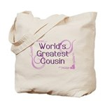 World's Greatest Cousin Tote Bag