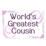 World's Greatest Cousin Postcards (Package of 8)